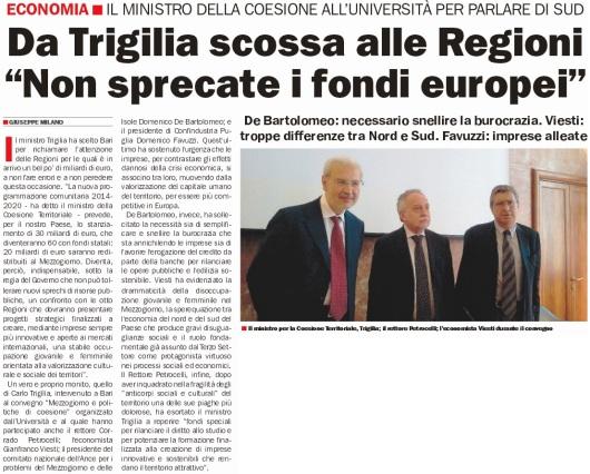 Da Trigilia scossa alle Regioni
